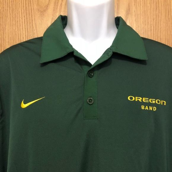 Nike Other - Oregon Ducks polo shirt men's size Large green EUC